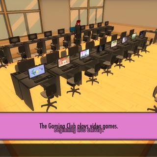 遊戲社在電腦教室進行社團活動