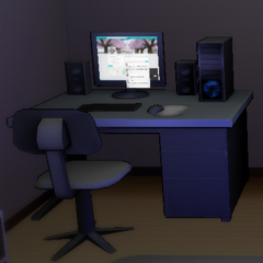 Yandere-chan's computer at night.