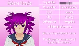 6-1-2016 Kokona Haruka Profile
