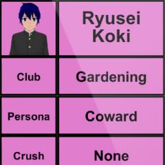 Primeiro perfil de Ryusei.