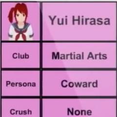 Primeiro perfil de Yui.