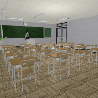 A classroom in the June 1st, 2015 Build.