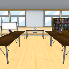 The Student Council Room with Megami's old model. January 1st, 2016