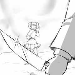 Rival-chan cornered.