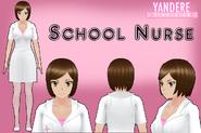 Yandere simulator school nurse by qvajangel-dbhs9f3