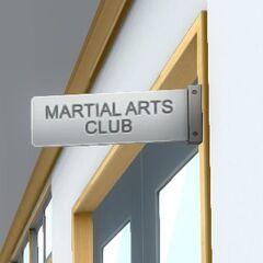 Martial Arts Club sign. July 12th, 2016.