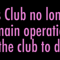 The club disbands because there are not enough members.
