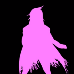 Another silhouette of her in