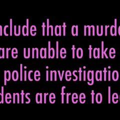 警察的結論
