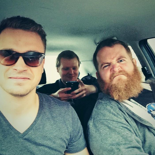 Three men and a beard going to i52.
