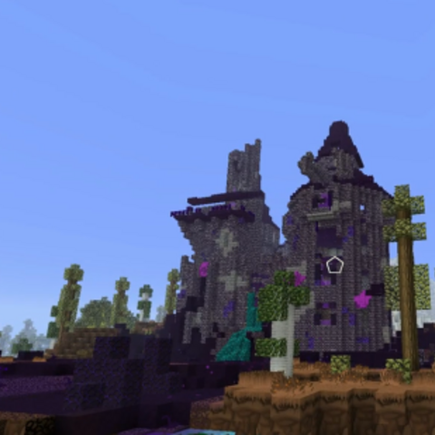 Duncan's Castle after being warped and covered in taint and flux.