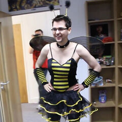 Lewis in his bumble bee costume in 2012.