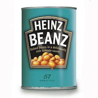 A Heinz baked bean can.