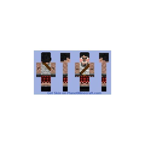 Rav's Minecraft skin.