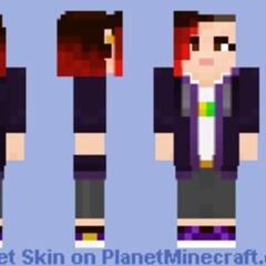 Kim's current Minecraft skin, designed by <a rel=
