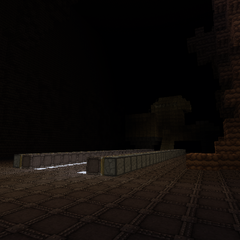 Little of the path is lit by glowstone.