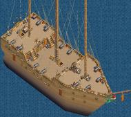 War frigate Main Deck