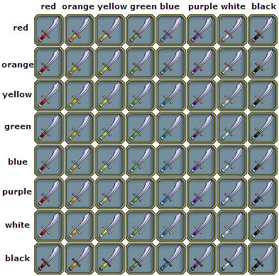 Swords-Scimitar colors