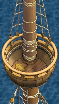 Grand frigate Fore Crow's Nest