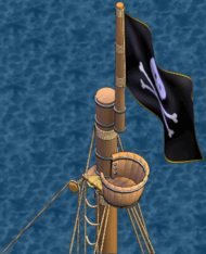 Merchant brig Crow's Nest Aft