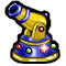 Trophy-Bejeweled Cannon
