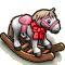 Trophy-Realistic Rocking Pony