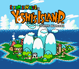 File:Title Screen - Super Mario World 2.png