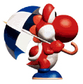 Red-yoshi-with-umbrella