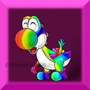 Rainbow Yoshi by Yoshi66666666