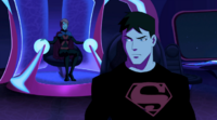 Miss Martian and Superboy talk about the past