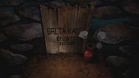 Greta's grave