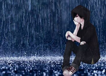 3480 Anime-boy-sitting-in-the-rain-HD-wallpaper