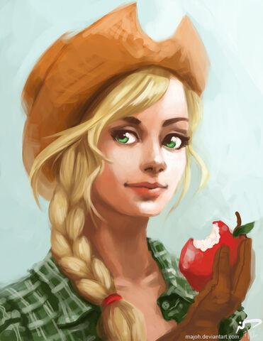 File:Applejack by majoh-d589dy4.jpg