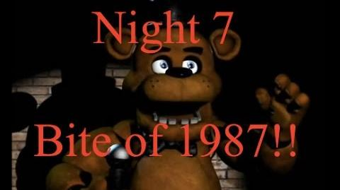 Five Nights At Freddy's Night 7 1 9 8 7-Bite of 1987!