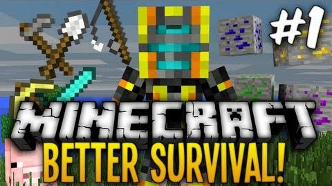 Minecraft Better Survival Modpack - Starting out! Ep 1