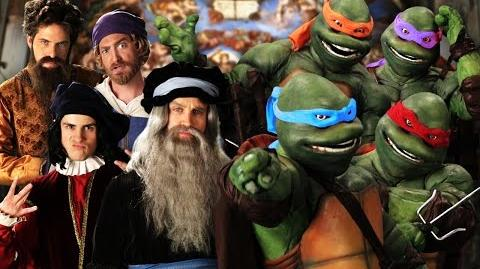 Artists vs TMNT. Epic Rap Battles of History Season 3 Finale