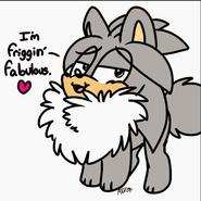 Silver chest fur