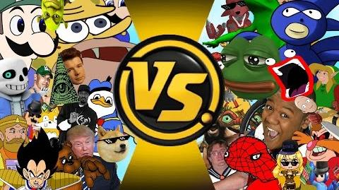 MLG AND YOUTUBE POOP MEME FREE FOR ALL!!! CARTOON FIGHT CLUB EPISODE 69!