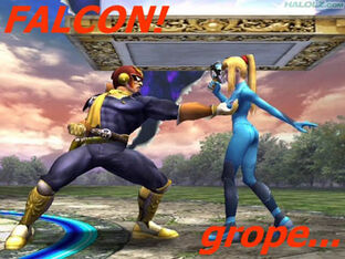 CAPTAIN FALCON FALCON GROBE BOOBS BOOBIES