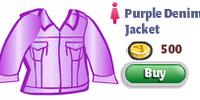 Purple Denim Jacket