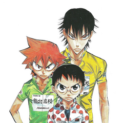 Naruko with Onoda and Imaizumi.