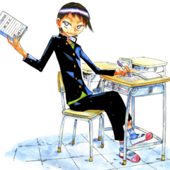 <center>Toudou in his middle school uniform</center>
