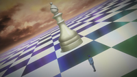 Hologram of a bishop chess piece