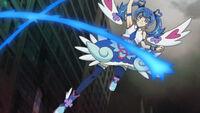 Ep002 Blue Angel using her energy whip
