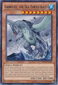 YuGiOh! TCG karta: Gameciel, the Sea Turtle Kaiju