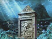 Sunlight Underwater Stone Monument