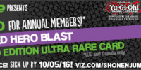 Weekly Shonen Jump October 2016 membership promotional card