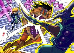 Big Shield Guardna defends Jonouchi