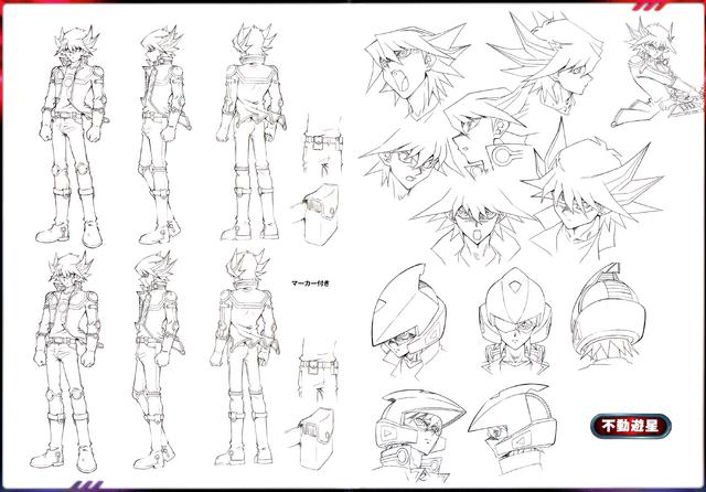 File:Yusei Fudo linework.png