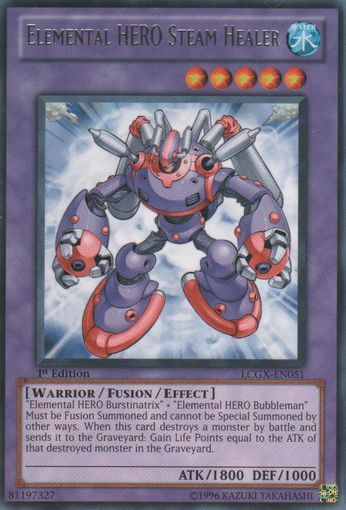 Elemental Hero Steam Healer Yu Gi Oh Fandom Powered